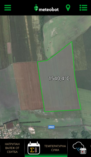 Meteobot App - агрономически показатели