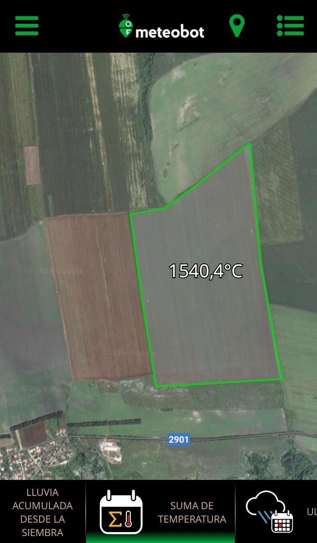 Meteobot App -Indicadores agronómicos